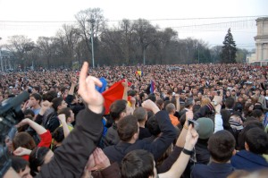 Protest in Chisinau (from Natalia Morar's blog)